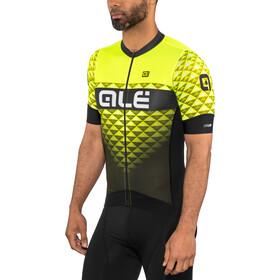 Alé Cycling PRS Hexa SS Jersey Herre black-yellow flou